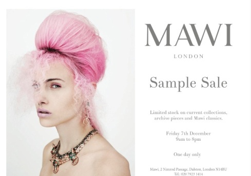 Sample sales at Mawi December 2012